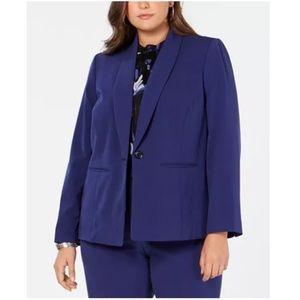Nine West Shawl Collar Stretchy Royal Blue Blazer